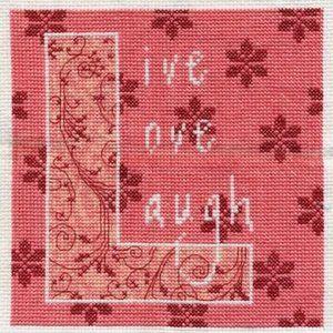 Bucilla Counted Cross Stitch Live Love Laugh NEW